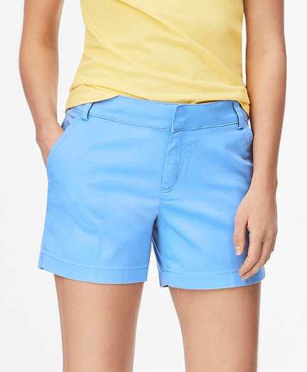 Stretch Cotton Sateen Shorts