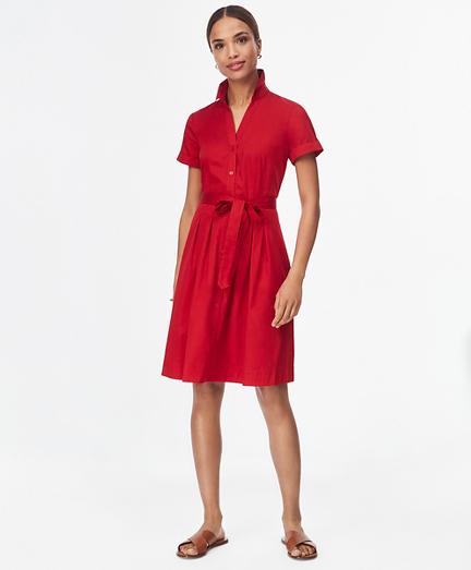 Cotton Sateen Shirt Dress