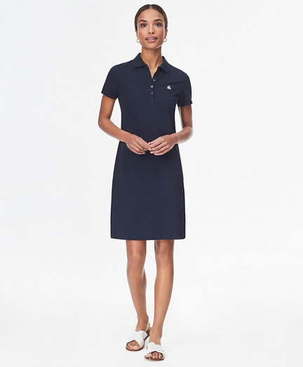 Stretch Cotton Pique Polo Dress