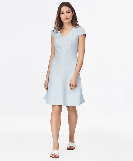 Bias-Cut Linen Dress