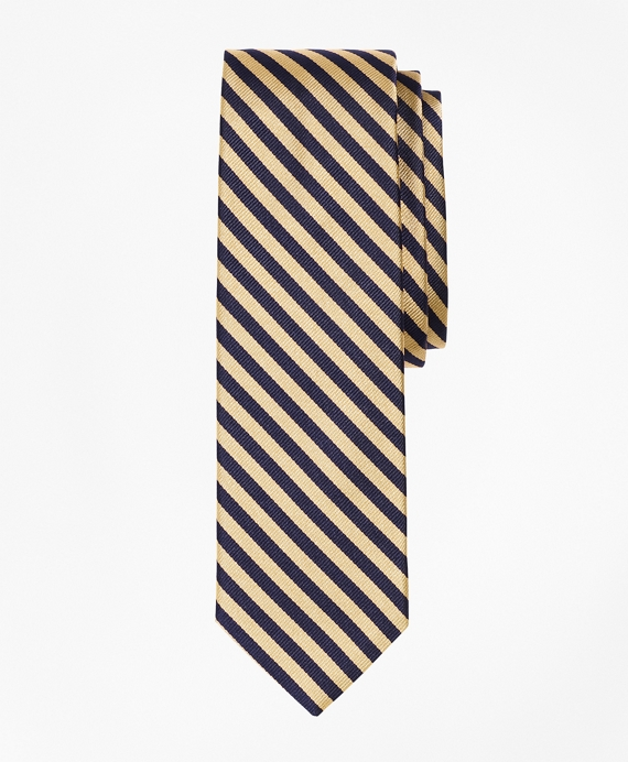 BB#5 Rep Slim Tie Gold-Navy