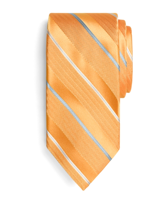 032f527fec96 Golden Fleece® 7-Fold Satin Herringbone Stripe Tie - Brooks Brothers