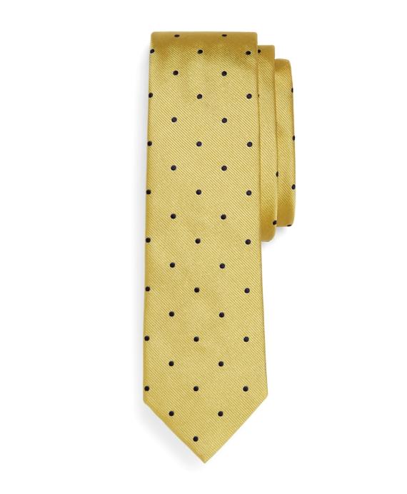 Woven Dot Slim Tie Gold