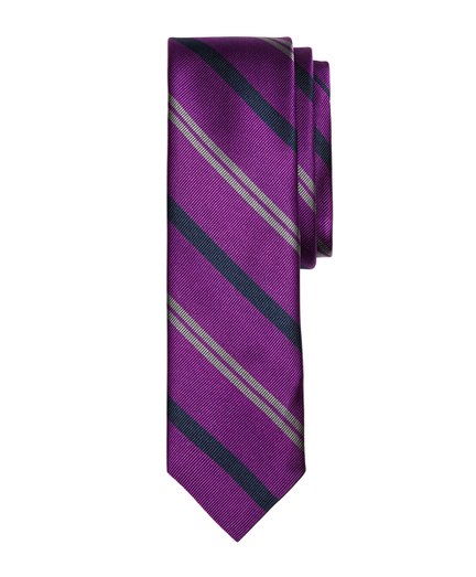 Alternating Stripe Slim Tie