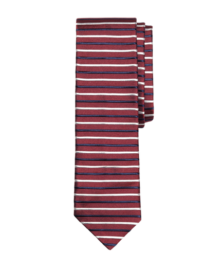 Horizontal Stripe Slim Tie