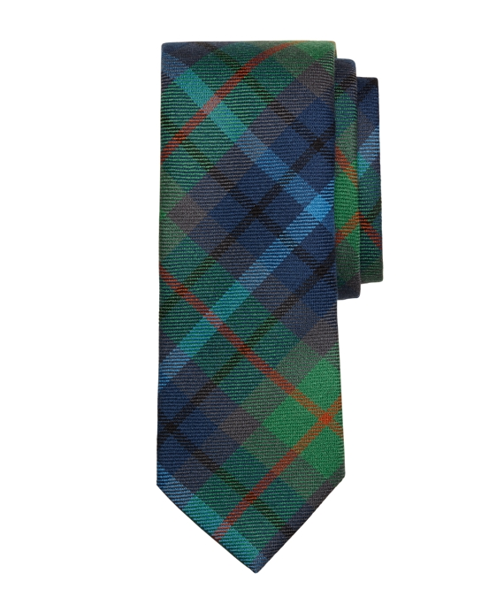 New York City Tartan Tie Green