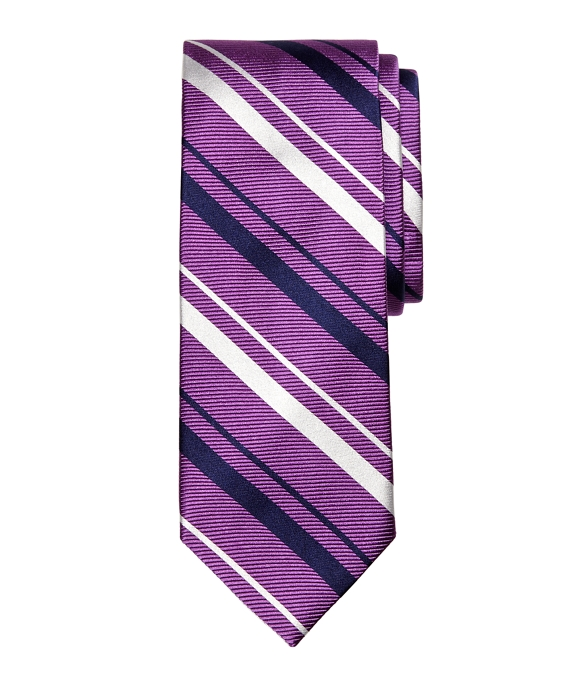 Sidewheeler Stripe Tie Purple