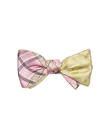 Tartan and Parquet Flower Reversible Bow Tie