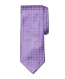 Tonal Four-Petal Flower Tie