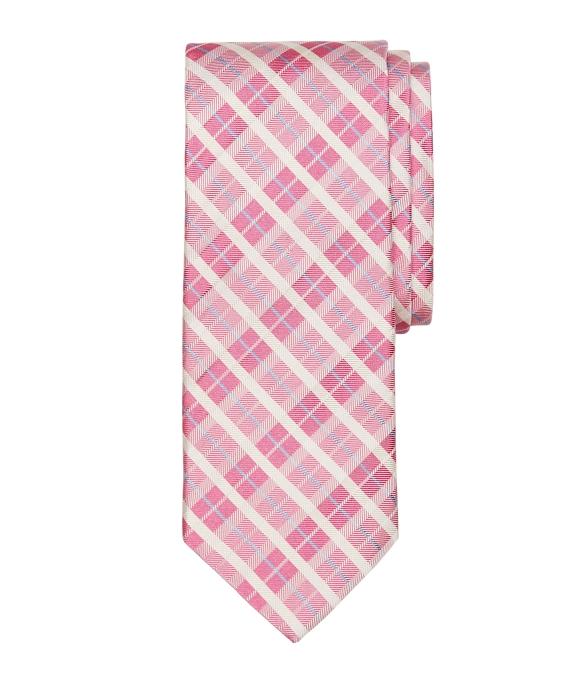 Plaid Tie Pink