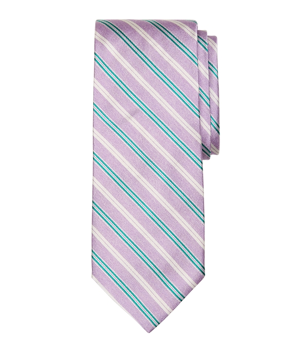 Melange Twin Stripe Tie Purple