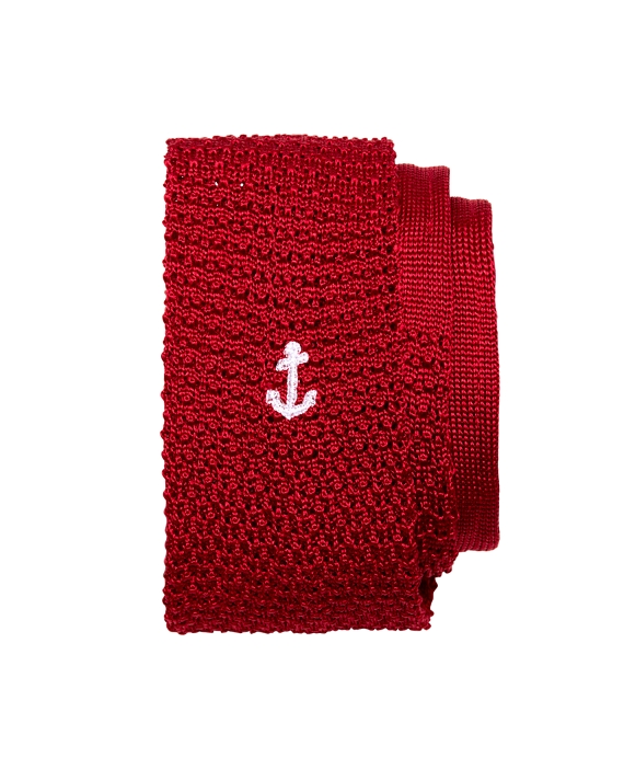 Anchor Knit Tie Red