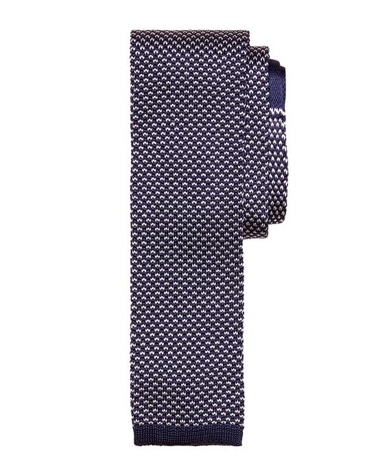 Bird's-Eye Knit Tie Navy