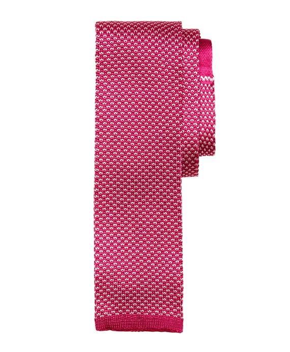 Bird's-Eye Knit Tie Pink