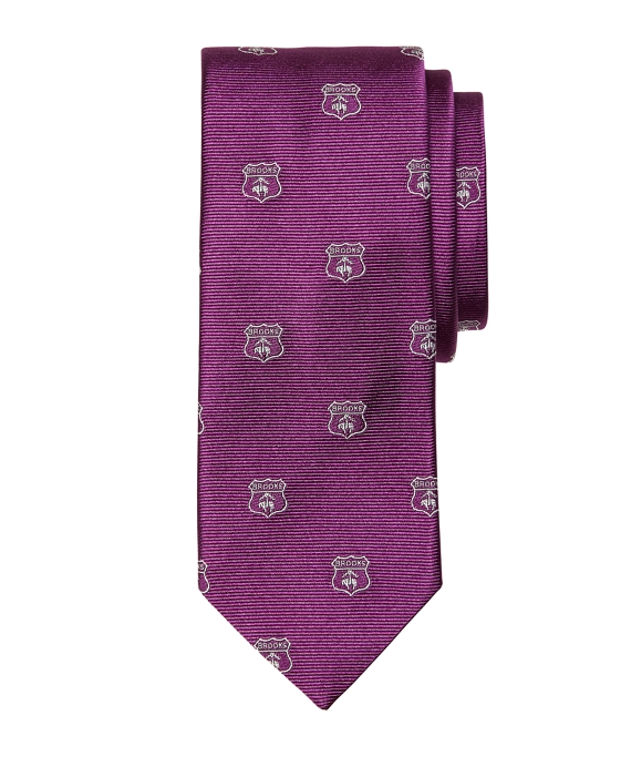Brooks Brothers Crest Tie Purple