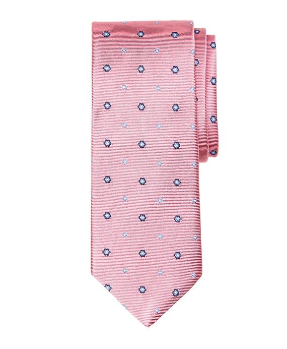 Spaced Flower Tie Pink