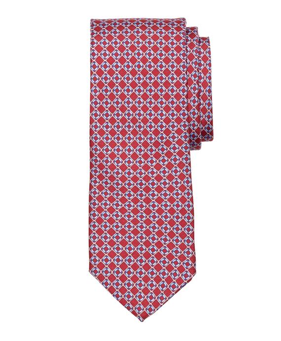 Life Preserver Print Tie Red