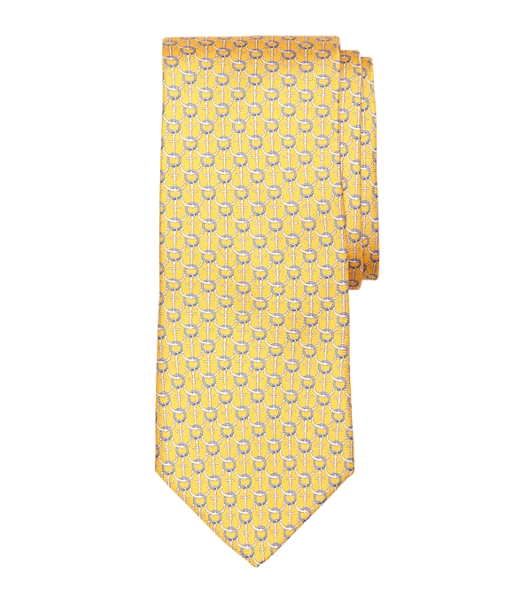 Anchor Print Tie Yellow