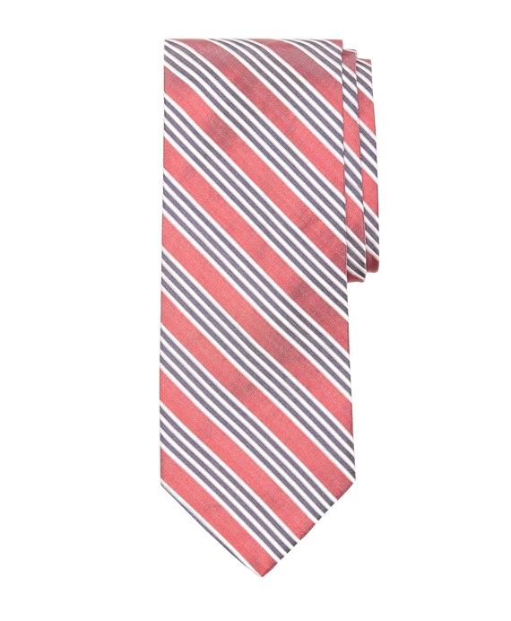 Framed Triple Stripe Tie Red