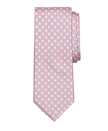 Small Medallion Print Tie
