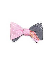 Small Dot and Alternating Stripe Reversible Bow Tie