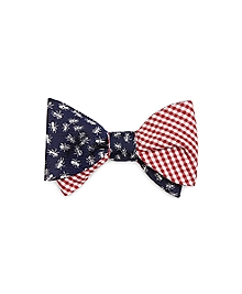 Gingham and Ants Reversible Bow Tie