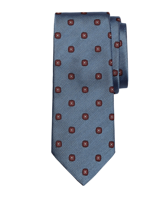 Spaced Square Tie Light Blue