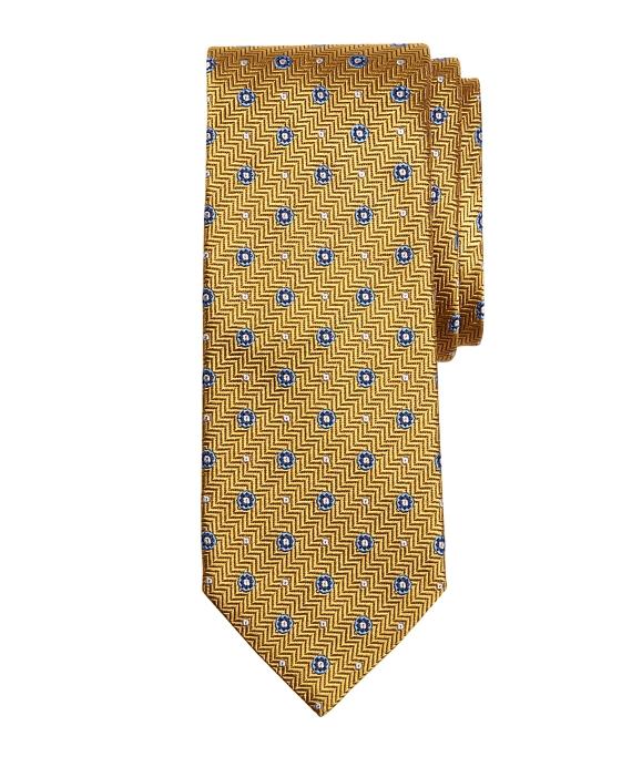 Herringbone Circle Tie Gold
