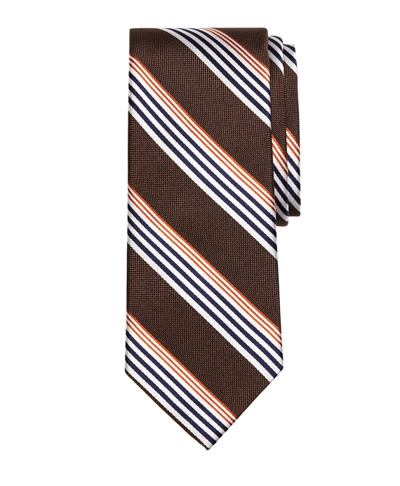 Sidewheeler Music Stripe Tie Brown