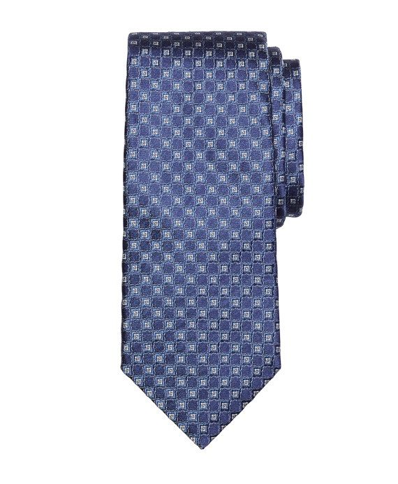 Four-Petal Flower Tie Navy