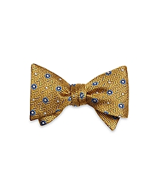 Herringbone Circle Bow Tie
