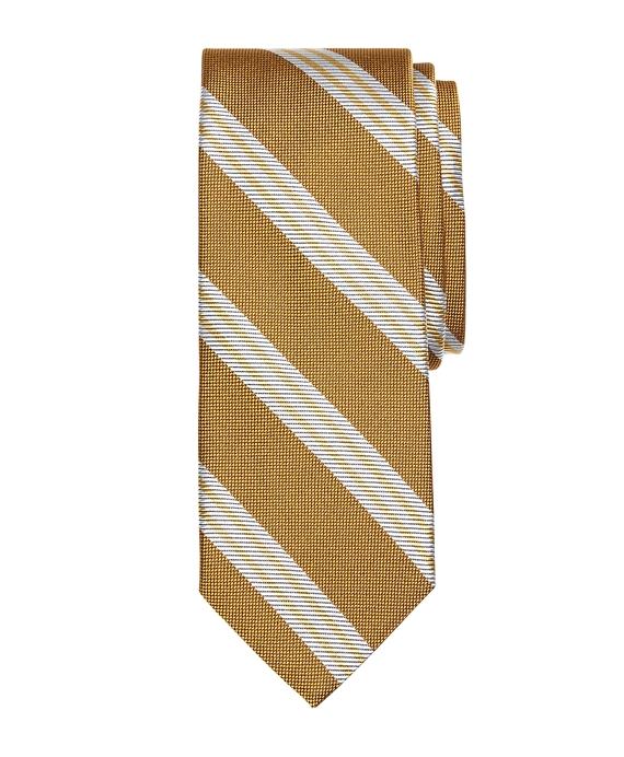 Large BB#10 Stripe Tie GOLD
