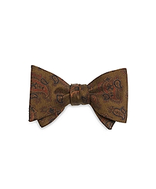 Ancient Madder Paisley Bow Tie