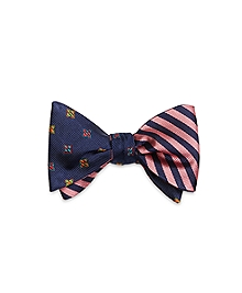 4-Petal Flower with BB#5 Stripe Reversible Bow Tie