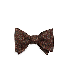Ancient Madder Medallion Bow Tie