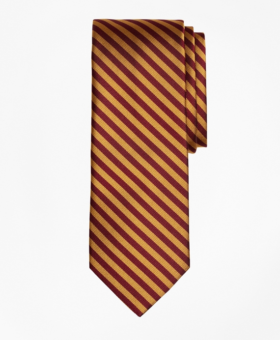 BB#5 Rep Tie Gold-Burgundy