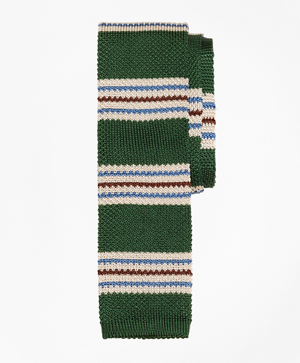 Triple Stripe Knit Tie