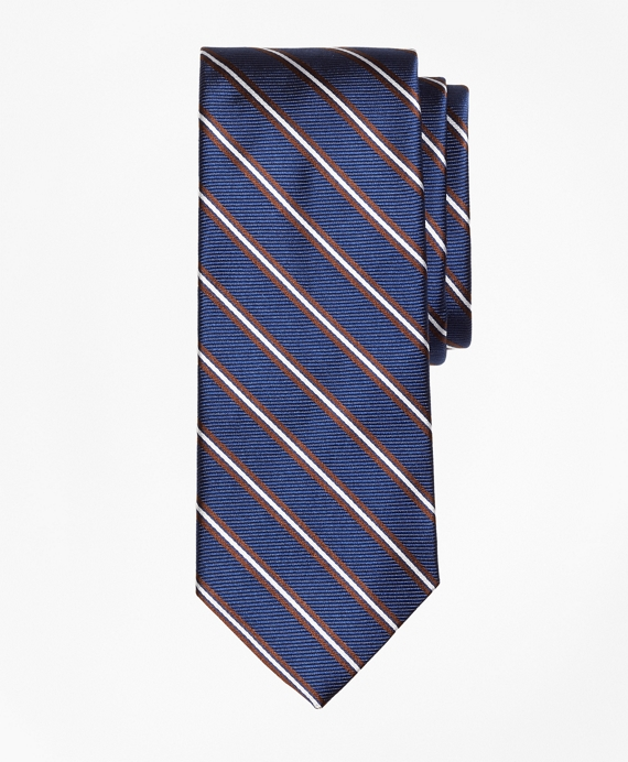Split Stripe Tie Navy