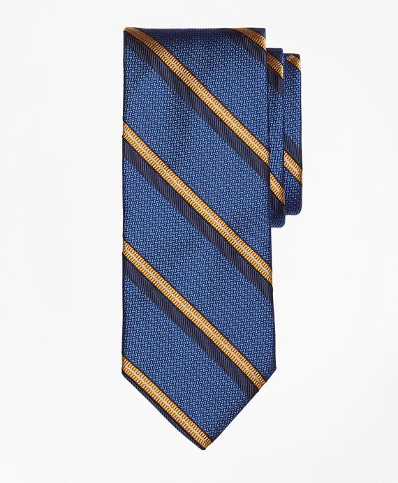 Textured Split Sidewheeler Stripe Tie Blue