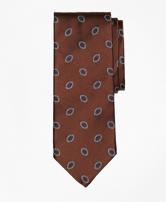 Oval Flower Tie Brown