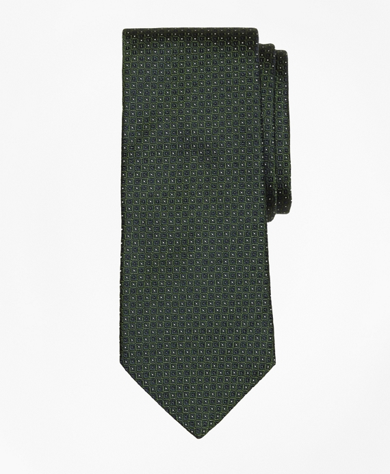 Solid-Non-Solid Tie Green