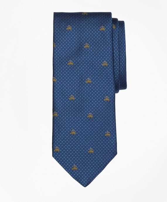 Golden Fleece® Houndscheck Tie Blue