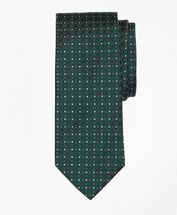 Multi-Flower Tie Green