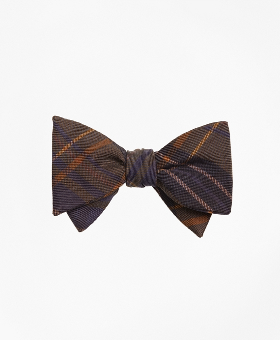 Ancient Madder Plaid Print Bow Tie Green