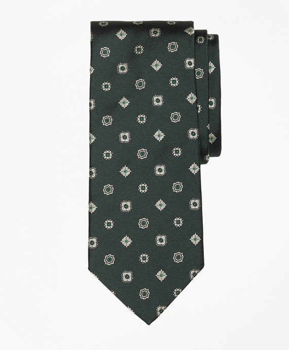 Multi-Medallion Tie Green