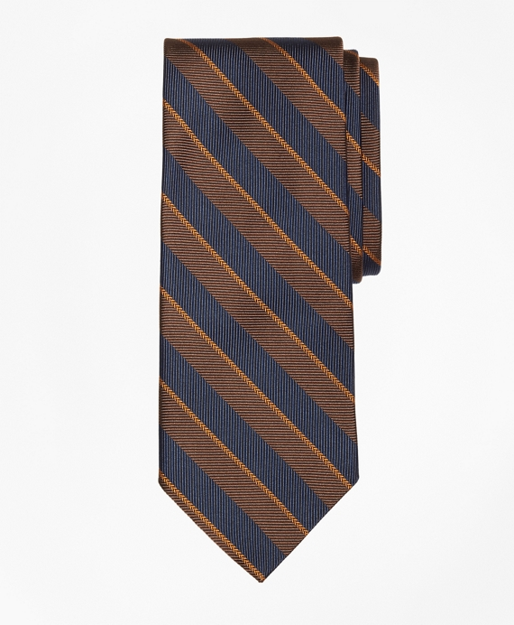 Sidewheeler Guard Stripe Tie Brown
