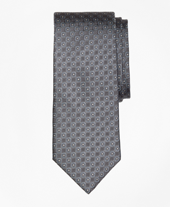 Framed Circle Tie Grey