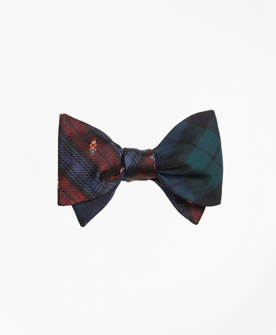 Nutcracker with Black Watch Reversible Bow Tie Green-Multi
