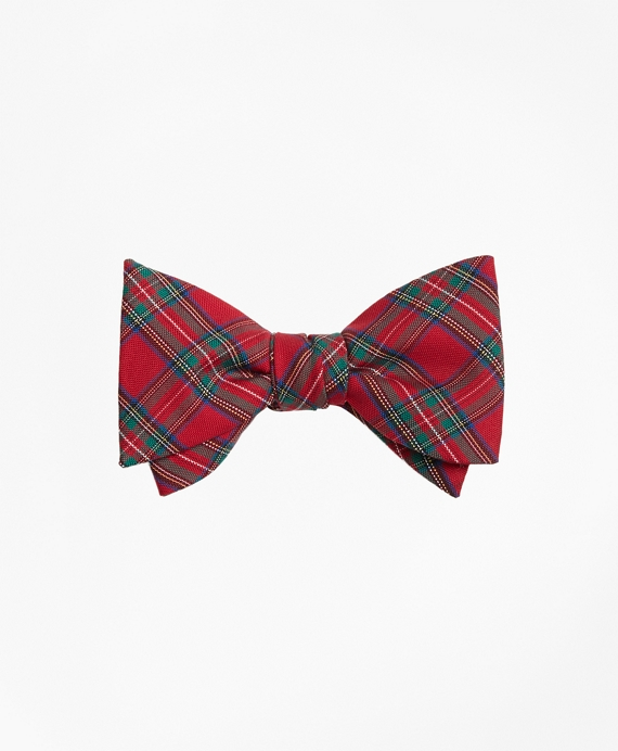 Plaid Bow Tie Red