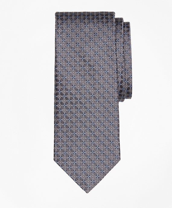 Flower Link Tie Grey